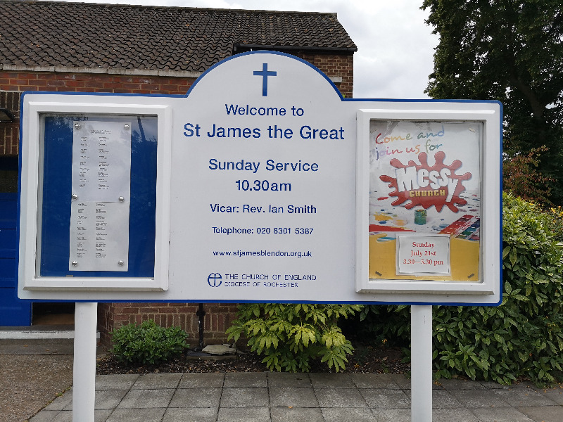 Church notice board
